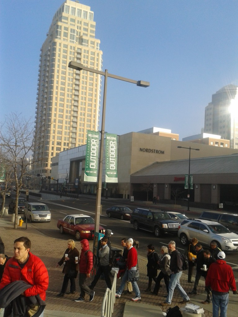 The crowds flock to the Salt Palace in Salt Lake City to see the newest gear