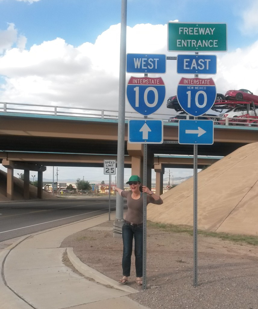 Gearing up for a CDT thru-hike in Lordsburg, NM