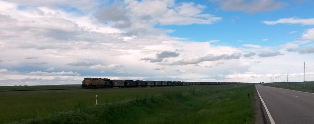 The coal train headed to the eastern plains.
