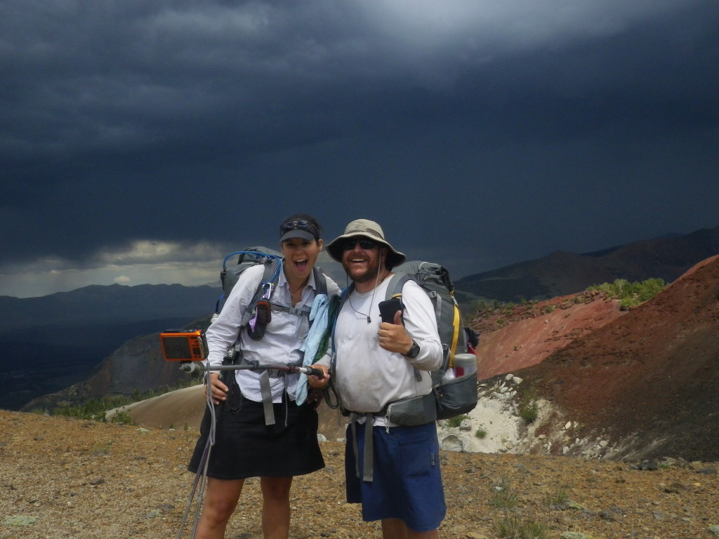 Walking on ridges during thunderstorms is among the challenges of the SHR