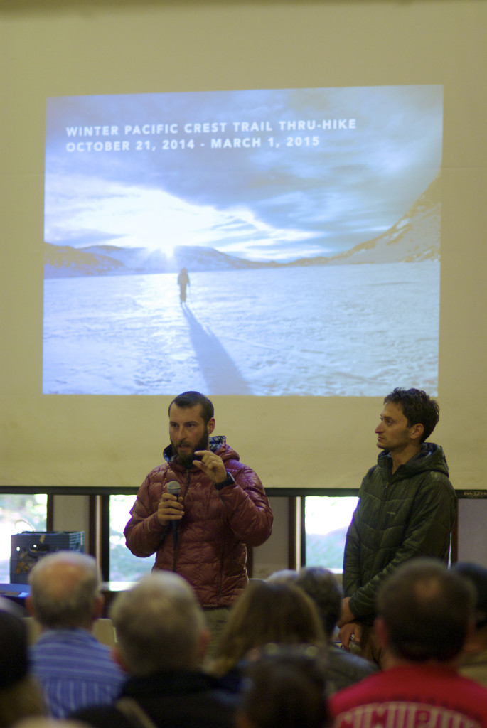 "Shawn ""Pepper"" Forry talks about what happened when he and Trauma fell into frozen lakes last winter. Photo by Jason Waicunas from Outdoor Viewfinder"